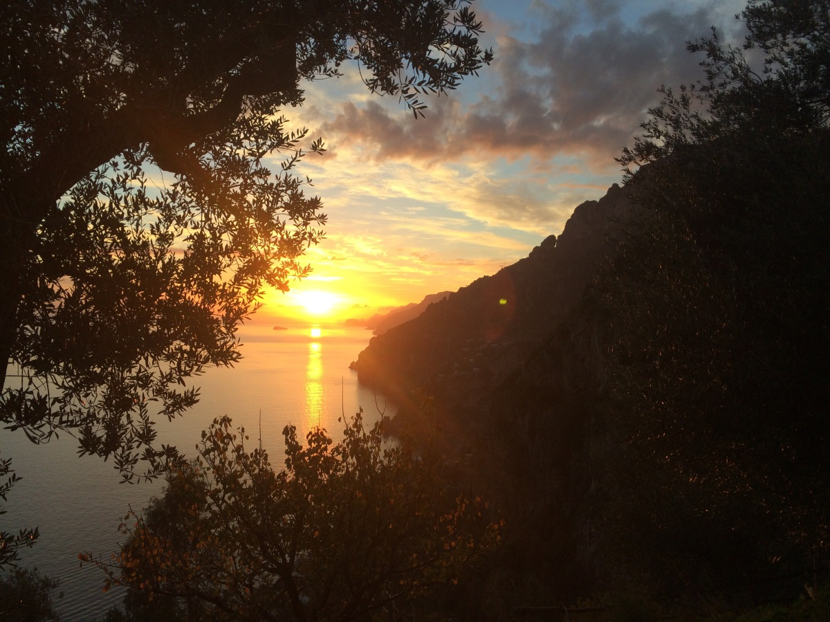 Sunset over the Amalfi Coast